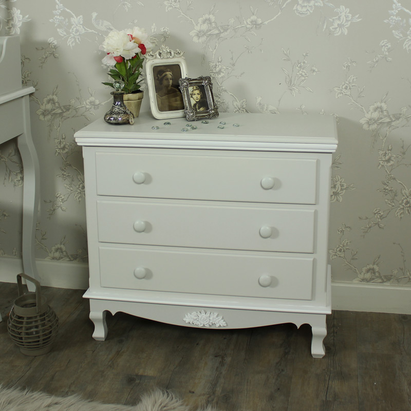 Claudette Range - Grey 3 Drawer Chest of Drawers