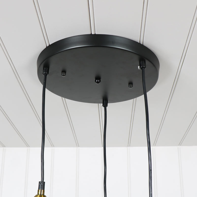 Clear glass ceiling 3 light cluster melody maison black metal 3 light ceiling cluster aloadofball Gallery