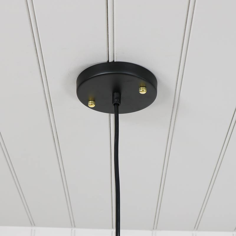 Clear Glass Dome Industrial Pendant Ceiling Light Retro