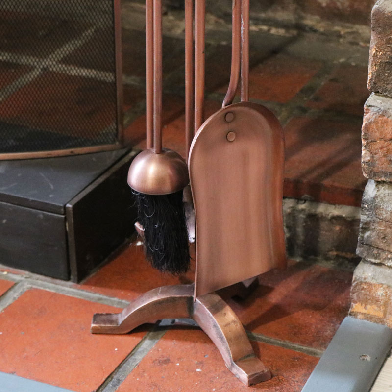 Copper Fireside Companion Tool Set