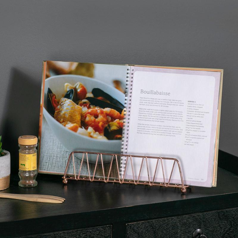 Copper Metal Tablet / Recipe Book Holder