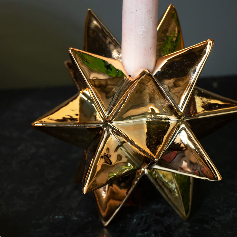 Copper Star Candle Holder