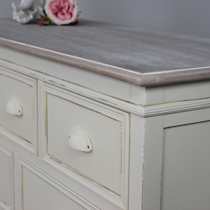 Country Ash Range - Furniture Bundle, Cream Table, Triple Mirror And Stool, Chest of Drawers and Pair of Bedsides