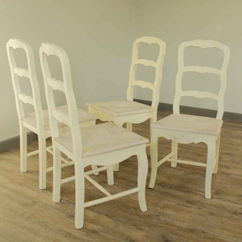 Country Ash Range, Cream Dining Room Chairs 4 Cream Chairs