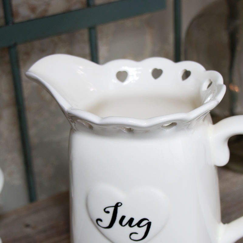 Cream Heart Milk Jug