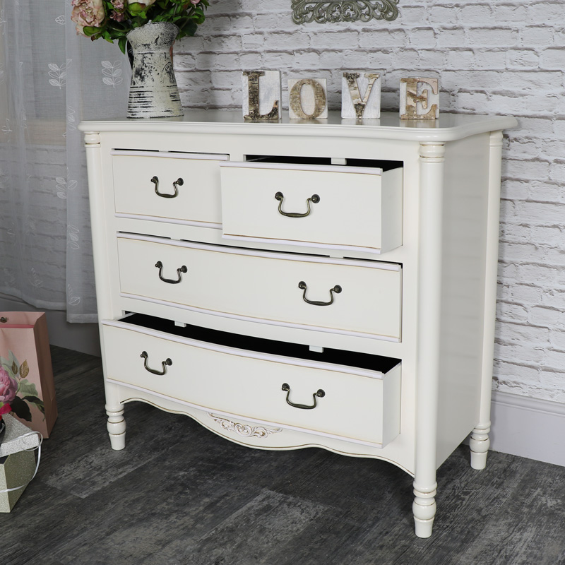 Cream Chest of Drawers - Adelise Range - Damaged Seconds Item