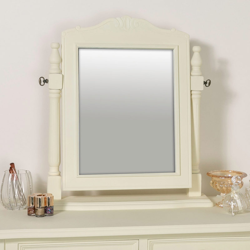 Cream Dressing Table Swing Mirror - Elise Cream Range