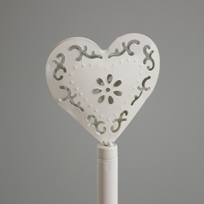 Cream Heart Kitchen Roll Holder