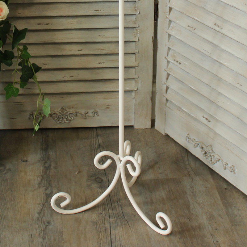 Cream Metal Toilet Roll Stand