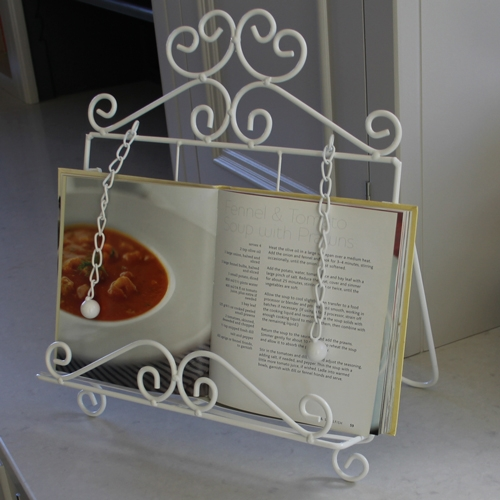Melody Maison White Tablet/Recipe Book Holder