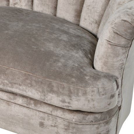 Cream Velvet 2 Seater Sofa