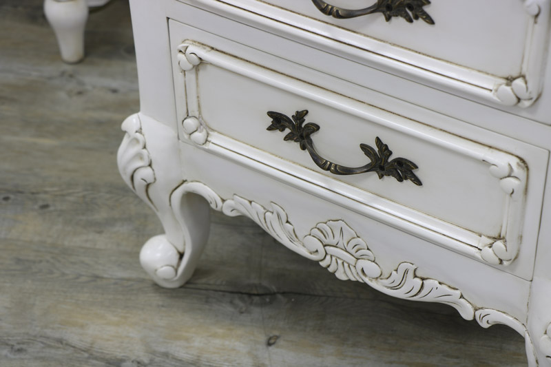 Cream Vintage Bedside Table - Limoges Range EX-SHOWROOM 3011
