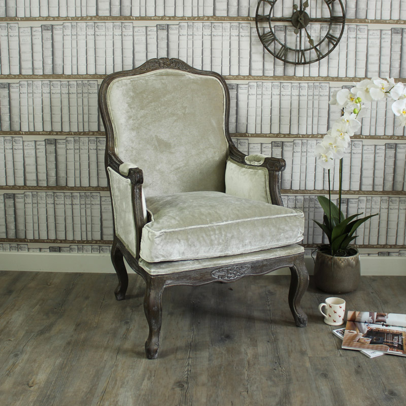 crushed velvet armchair silver grey crushed velvet arm chair melody maison 174 13636 | crushed velvet armchair in silver grey MM23271
