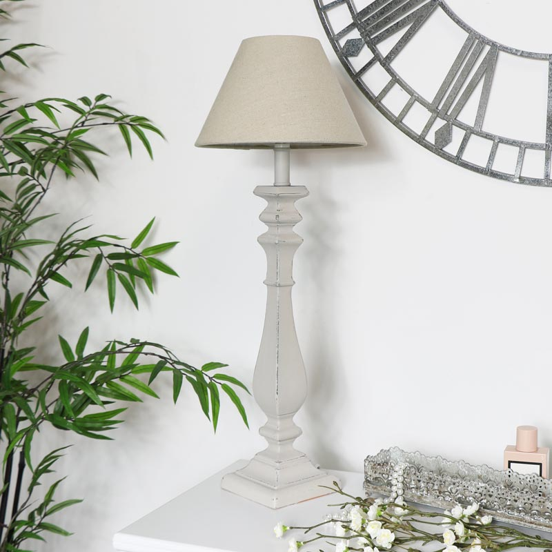 Curved Table Lamp - Stone Grey