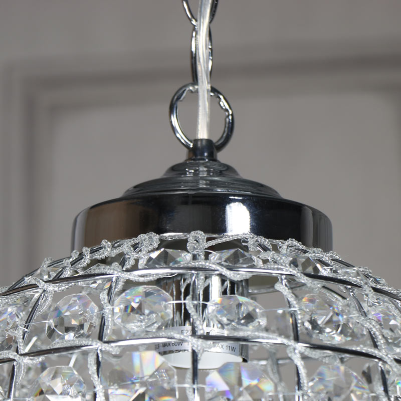 Cut Glass Clear Ceiling Light