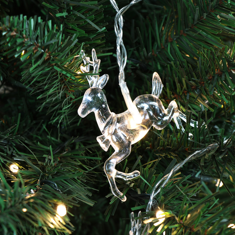 Cute LED Reindeer Christmas Fairy String Lights - Melody Maison