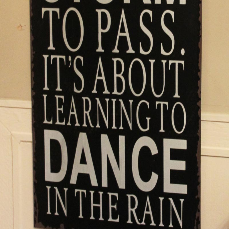 Dance In The Rain Wall Plaque