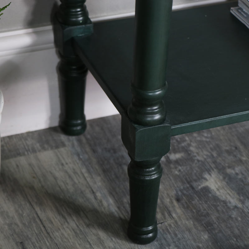 Dark Green 2 Drawer Console Table – Verde Range