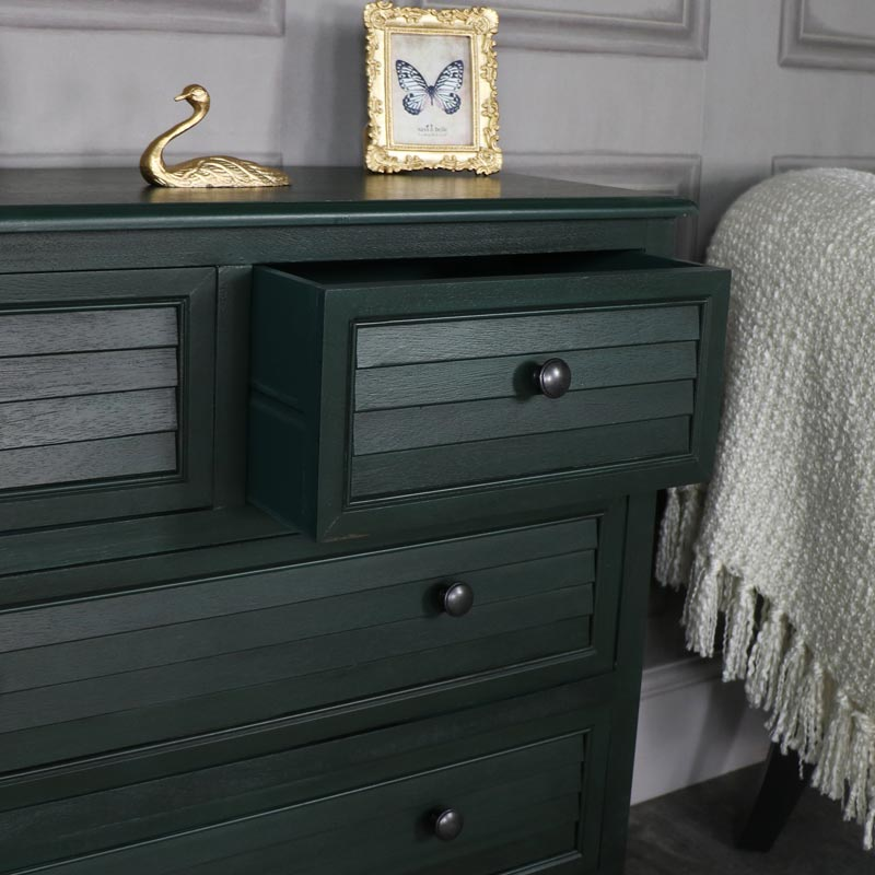 Dark Green Chest of Drawers – Verde Range