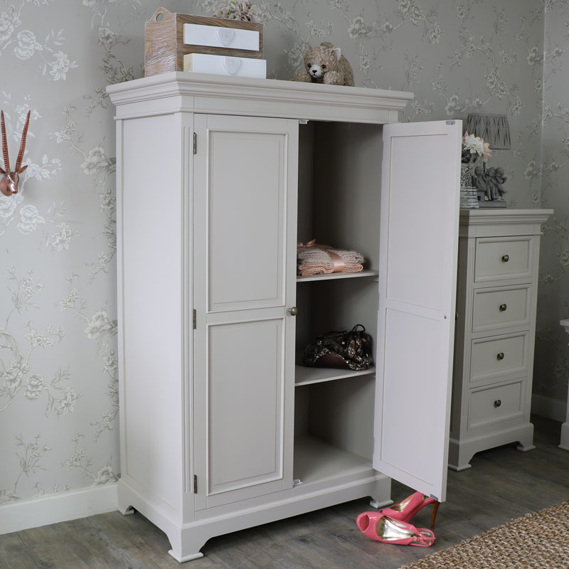Linen Closet/Low Wardrobe - Daventry Grey Range