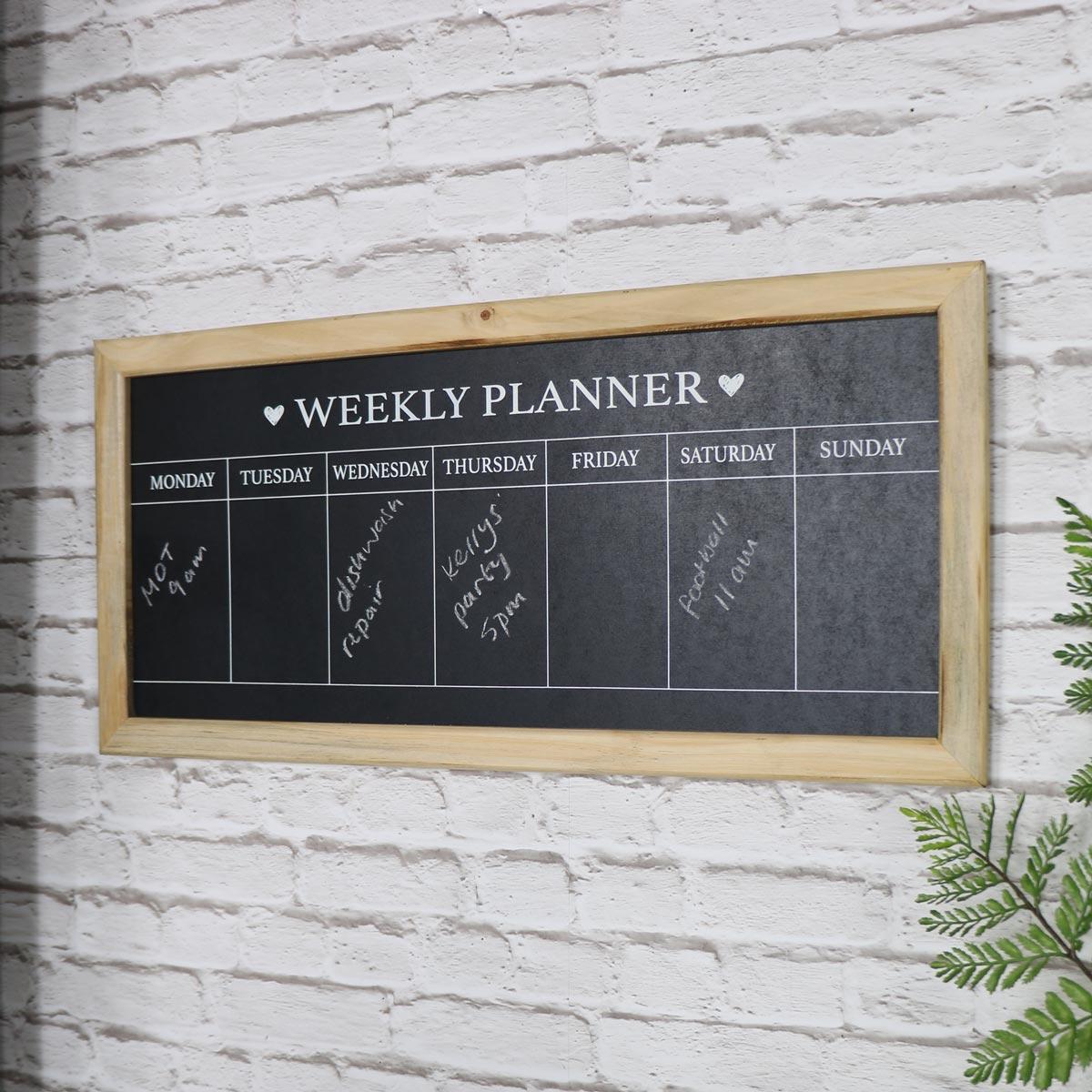 Holzrahmen Tage der Woche Tafel Planer Billig Landhaus Chic Küche | eBay