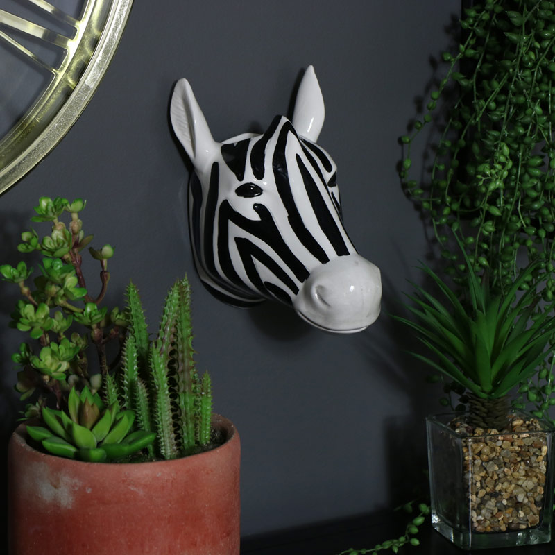 Decorative  Ceramic Wall Mounted Zebra Head