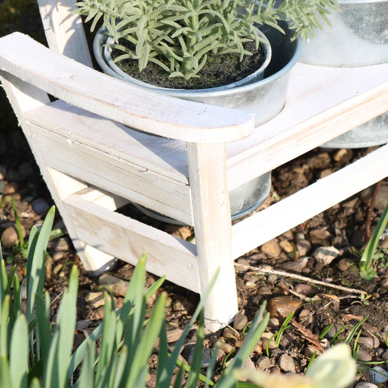 Decorative Garden Bench Plant Stand