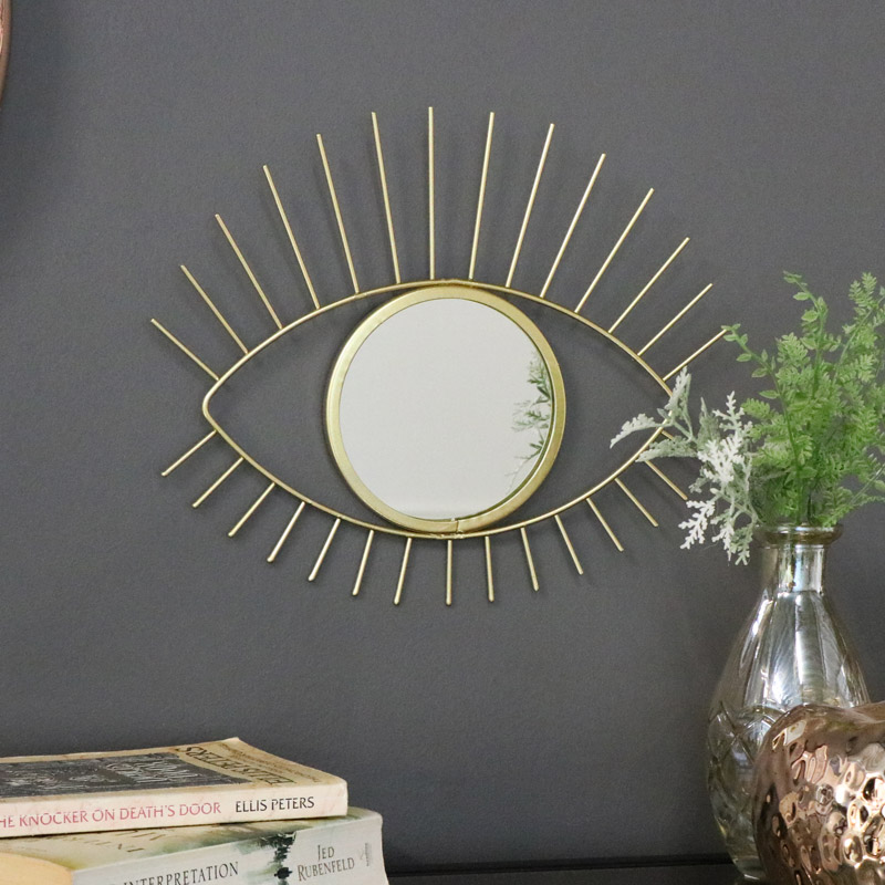 Decorative Gold Eye Wall Mirror