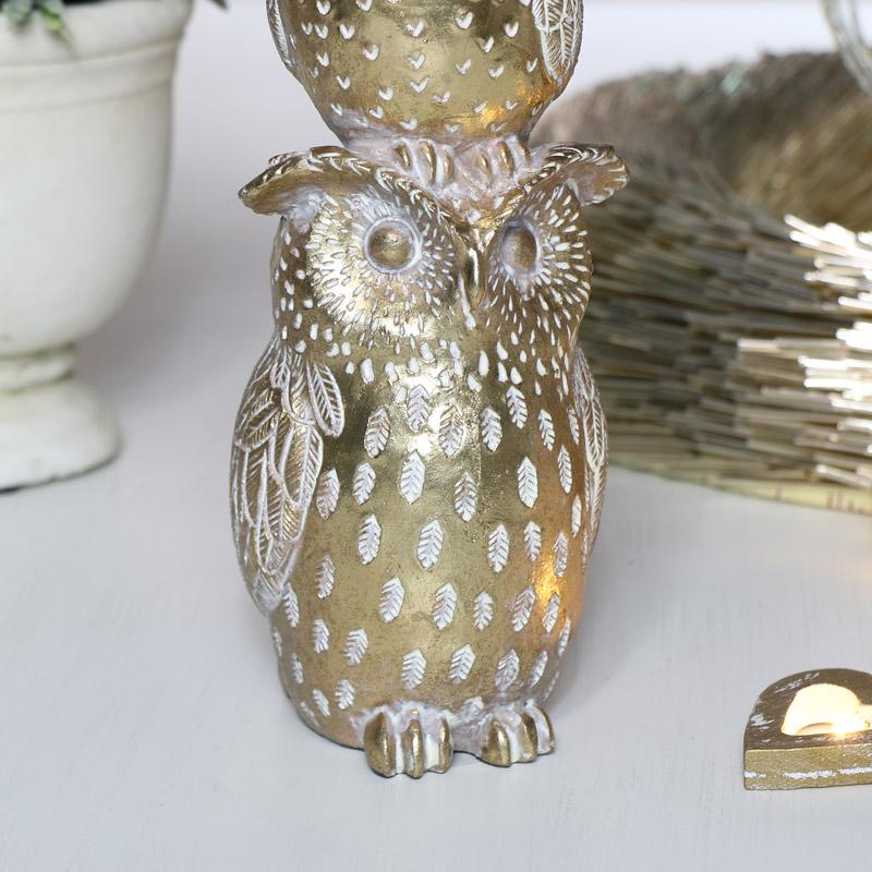 Decorative Gold Owl Ornament