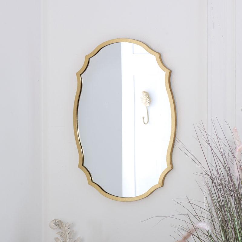 Decorative Gold Wall Mirror 43cm x 61cm