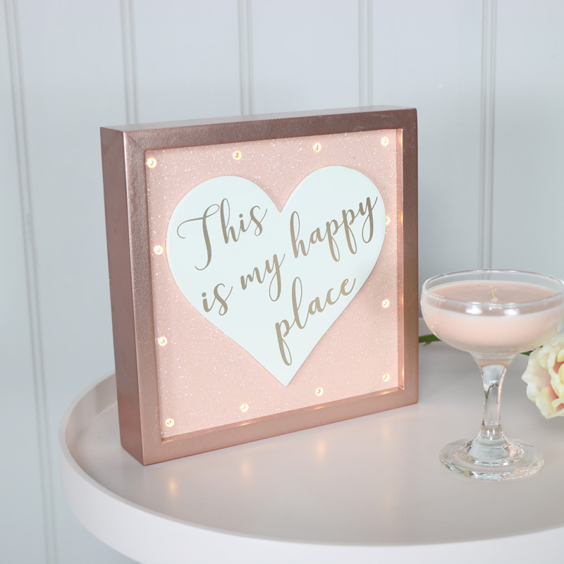Decorative Rosy Pink Glow LED Plaque