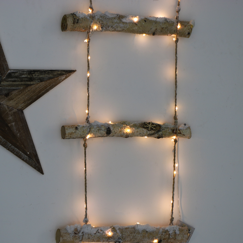 Decorative Snowy LED Ladder