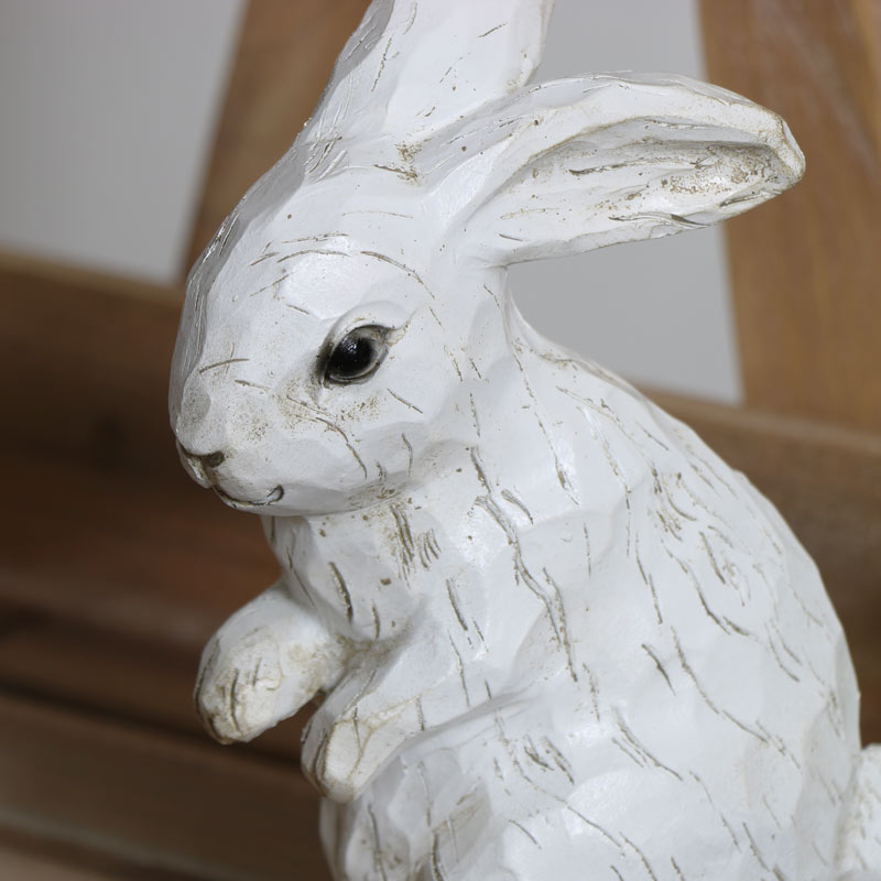Decorative White Rabbit Ornament