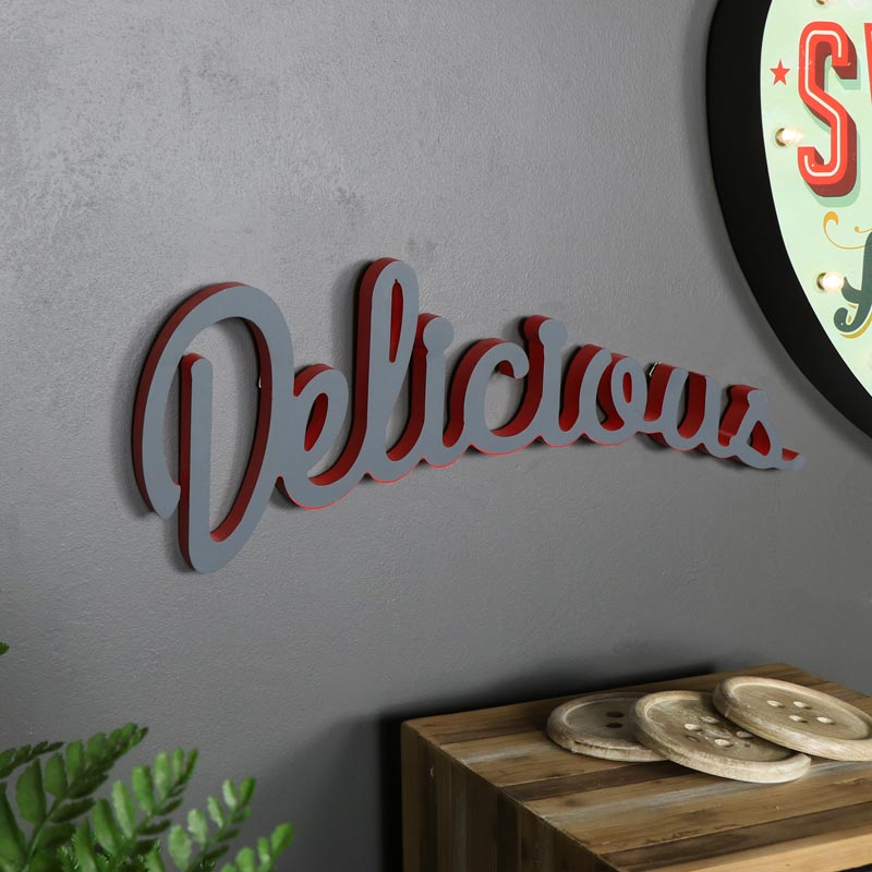'Delicious' Wall Plaque
