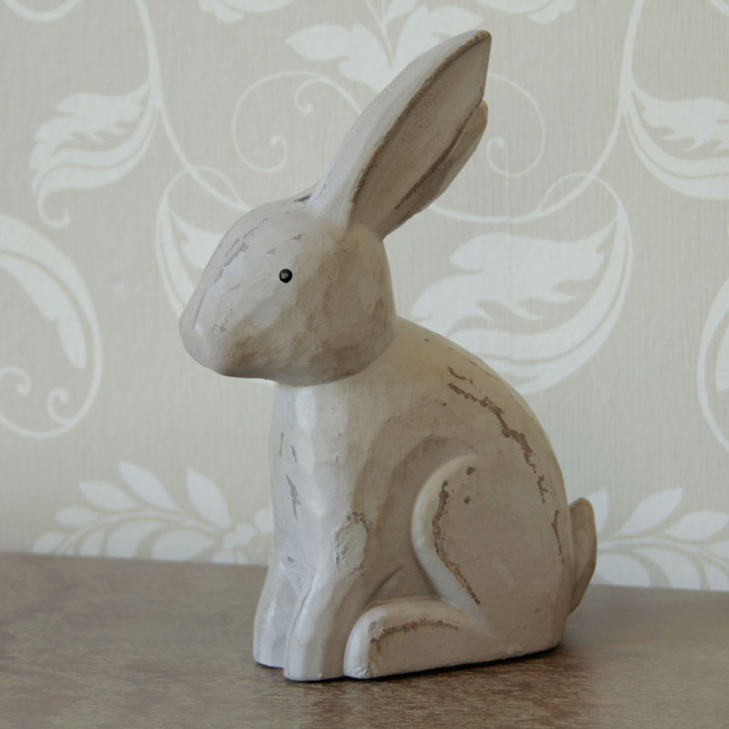 Distressed Wooden Rabbit Ornament Melody Maison 174