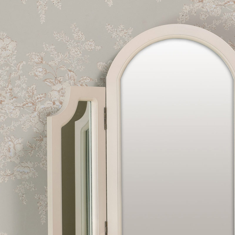 Dressing Table and Tabletop Vanity Mirror Set - Daventry Cream Range