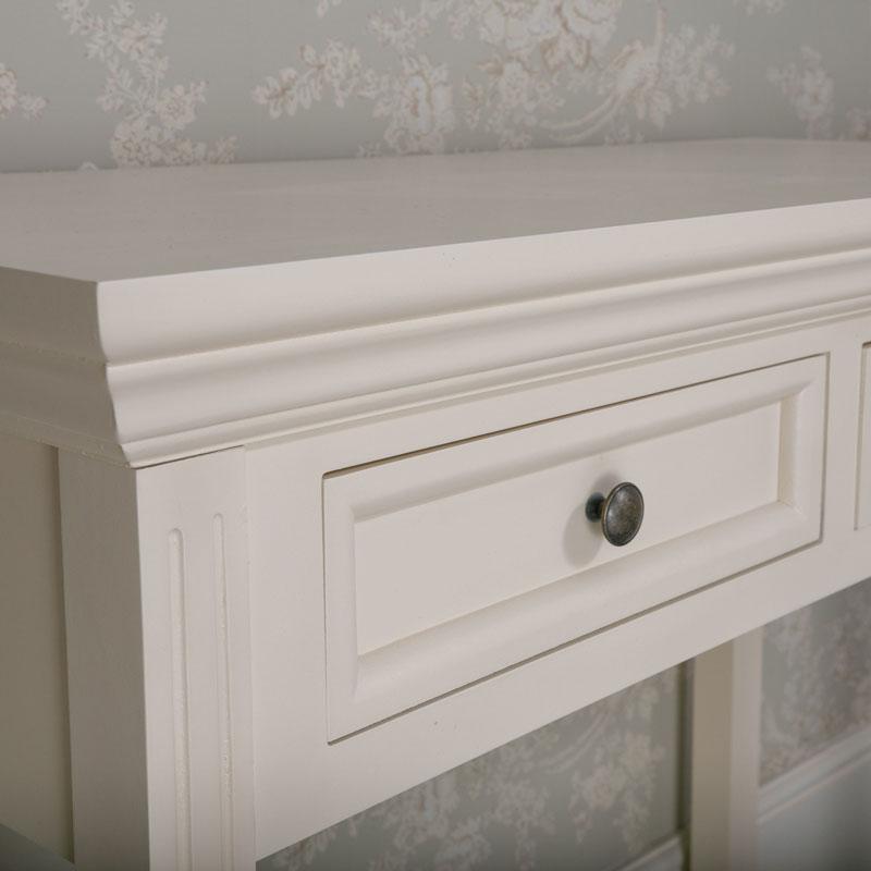 Dressing Table and Tabletop Vanity Mirror Set - Daventry Cream Range