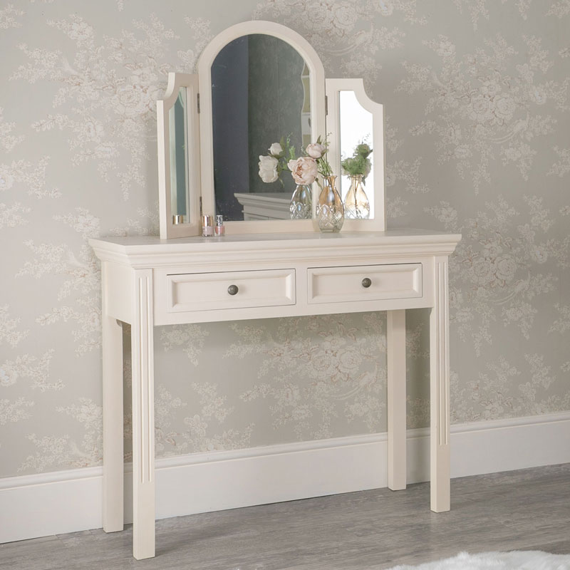 huge discount 1bef4 3a814 Dressing Table and Tabletop Vanity Mirror Set - Daventry Cream Range