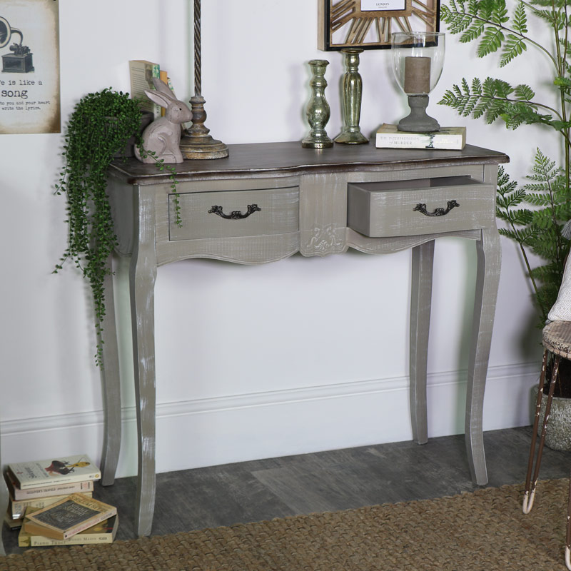 Dressing Table or Console Table - French Grey Range