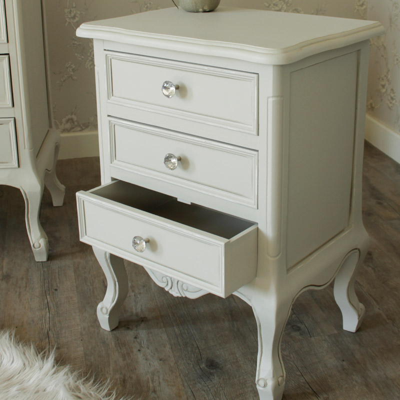Elise Grey Range - Furniture Bundle, Pair of 3 Drawer Bedside Table