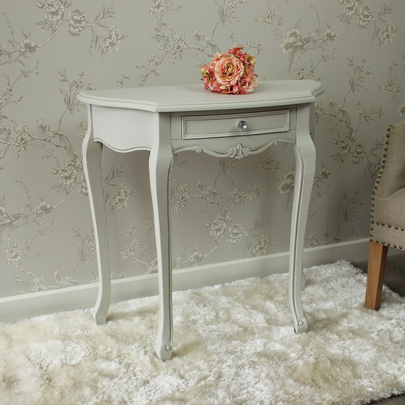 Elise Grey Range- Half Moon Console Table