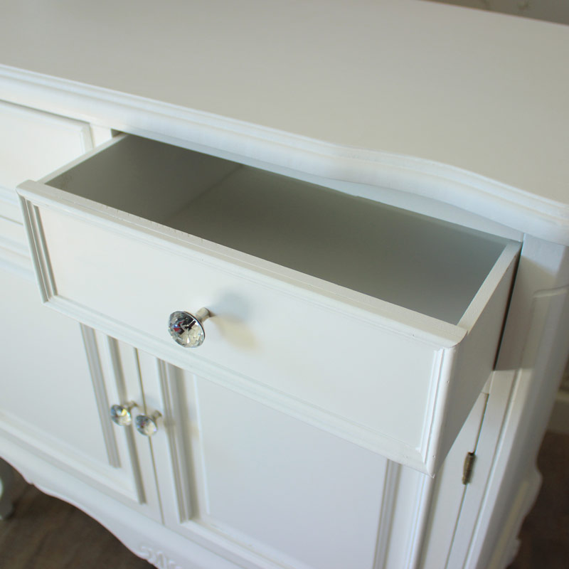 Elise White Range - Two Drawer Sideboard With Cupboards