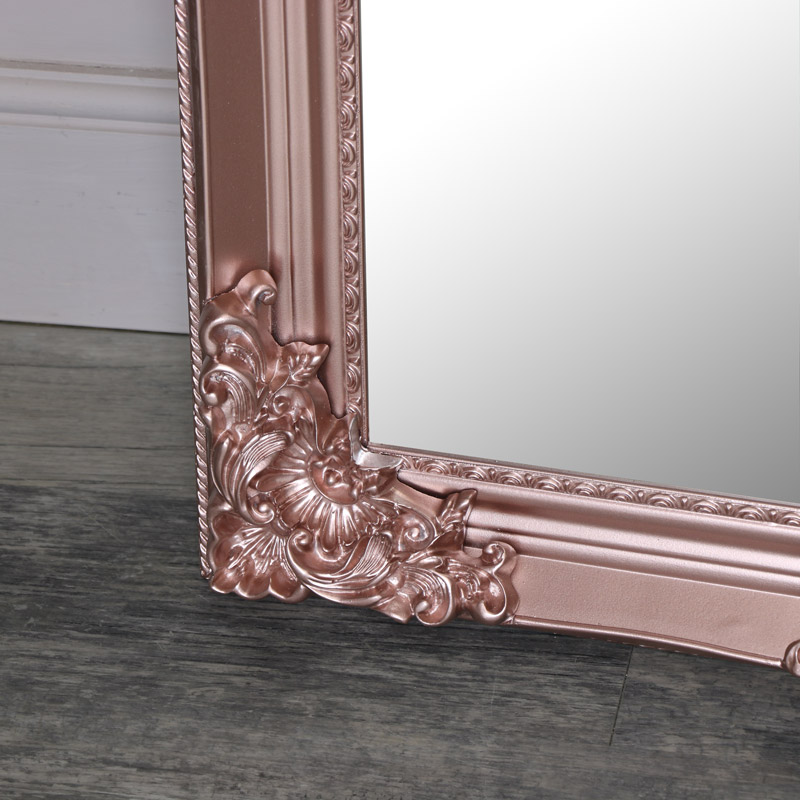 Extra Large Ornate Rose Gold, Gold Baroque Mirror Full Length