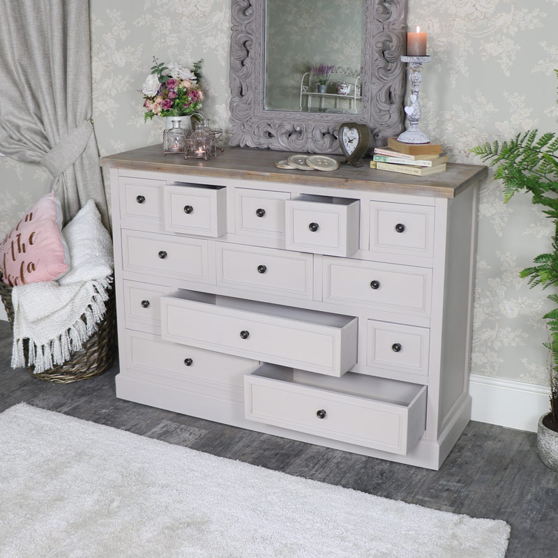Extra Large 13 Drawer Chest of Drawers - Cotswold Range