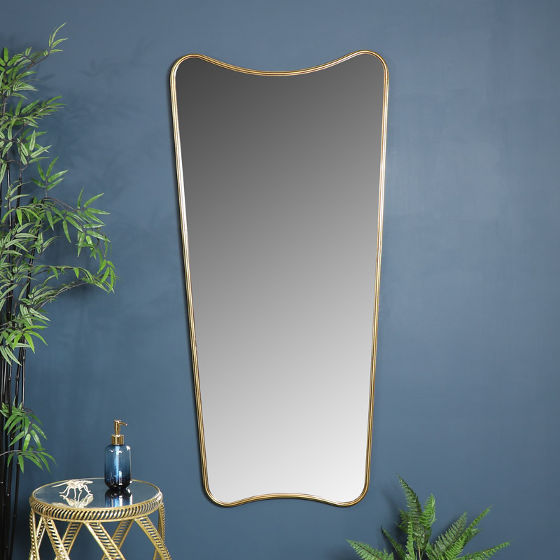 Extra Large Antiqued Gold Curved Wall, Large Wall Mirror Uk