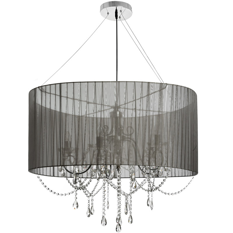 Extra Large 5 Arm Crystal Drop Chandelier
