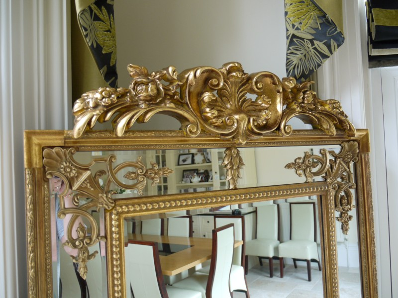Extra Large Ornate Antique Gold Full Length Wall Mirror ...