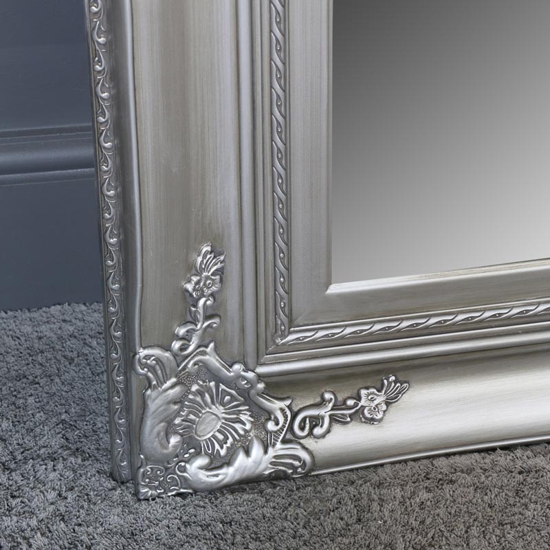 Extra Large Ornate Silver Wall / Floor / Leaner Mirror 100cm x 200cm