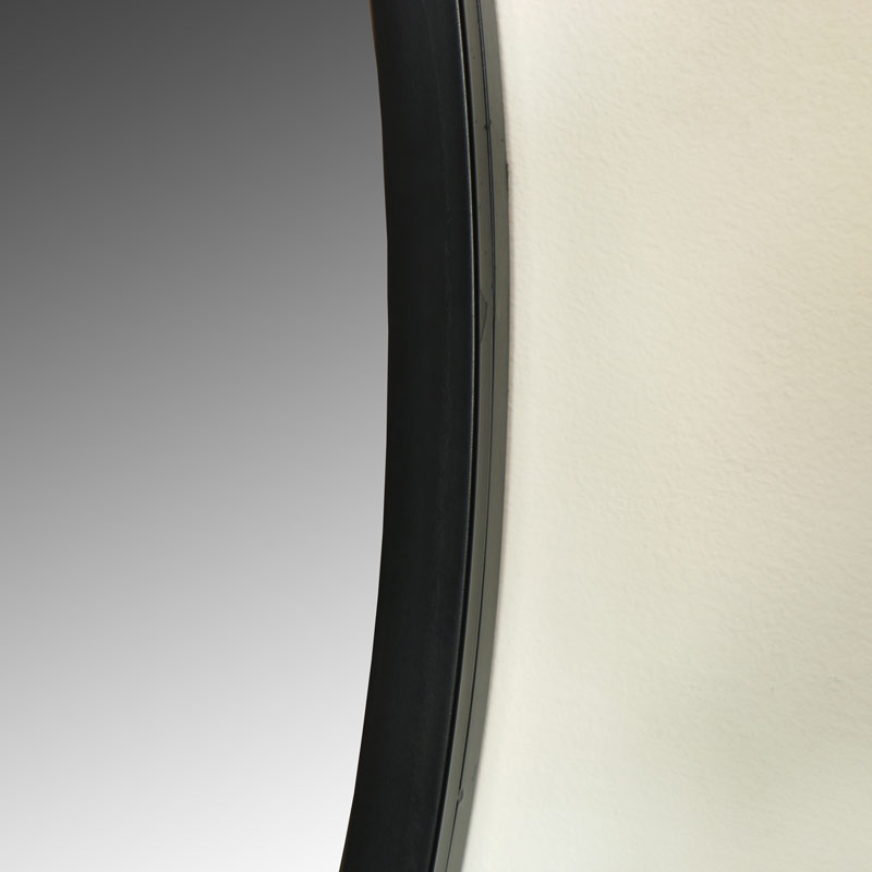 Extra Large Round Black Wall Mirror Melody Maison 174