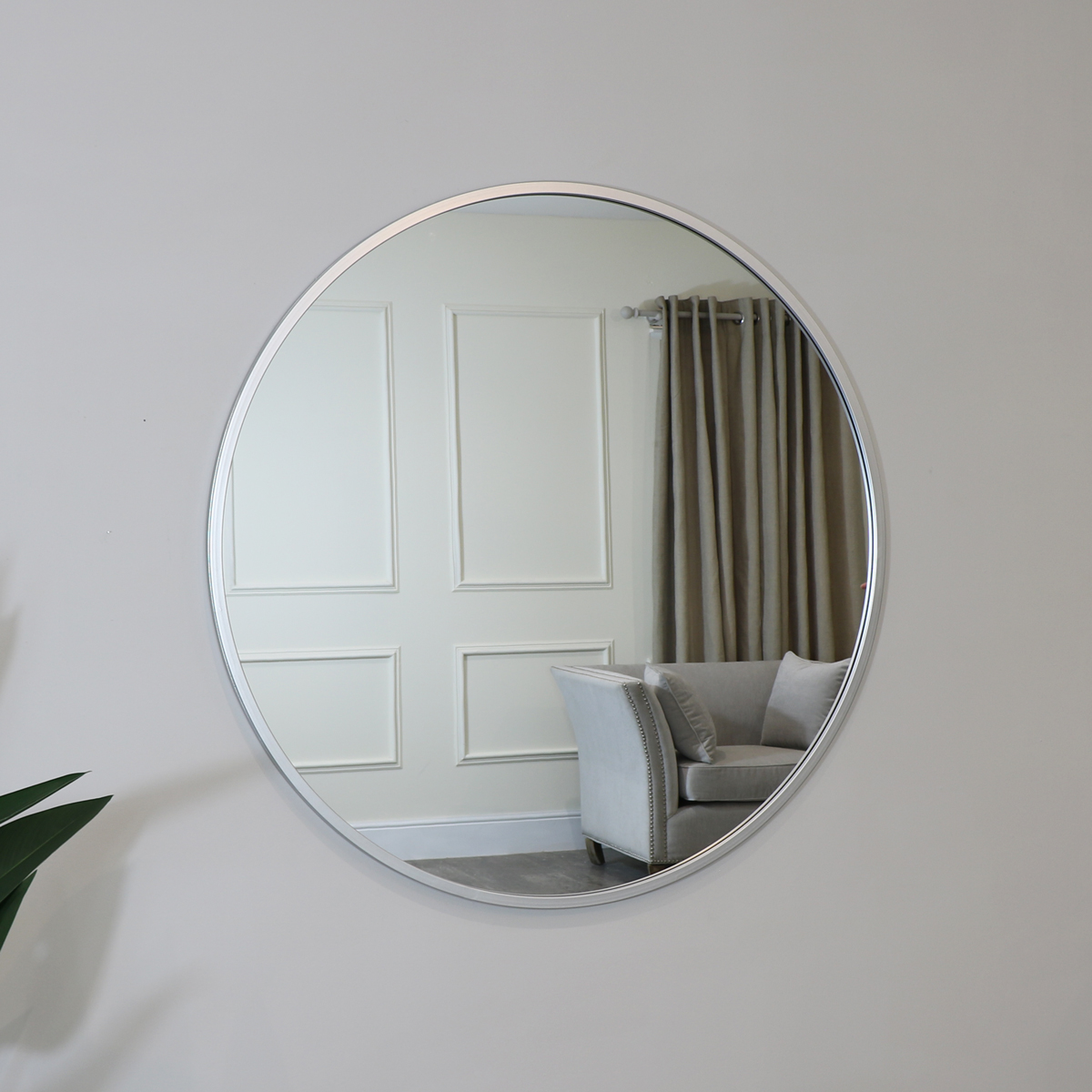 Extra Large Round Silver Wall Mirror 120cm X 120cm